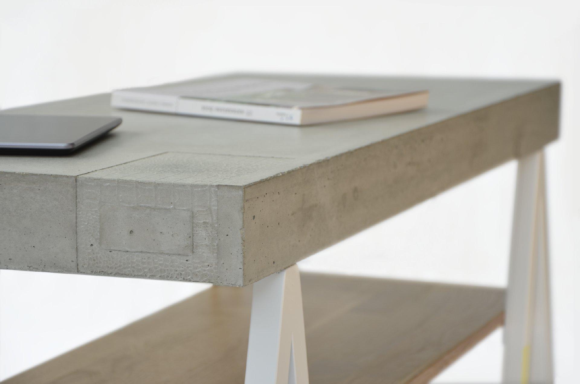 Table Basse B Ton Bois Acier Archi Limited 1414 M Trend  # Table Basse Blanche Et Bois