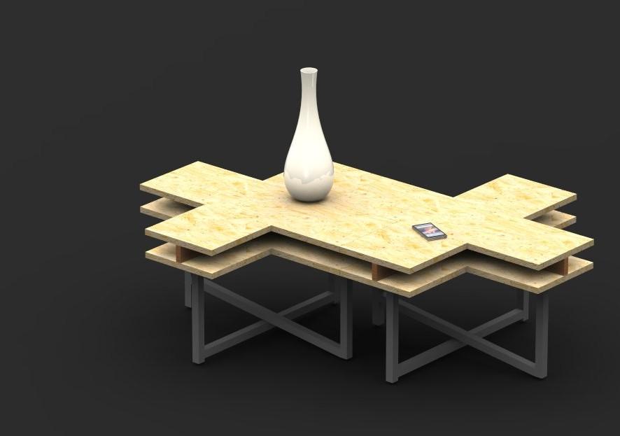 Table basse CrissCross